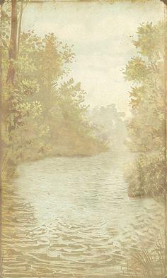 Vintage pond background
