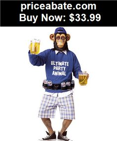 Men-Costumes: Ultimate Party Animal Funny Adult Costume - BUY IT NOW ONLY $33.99