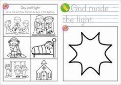 Sunday School Creation Day 1: God Made Light. FREE Take Home Book