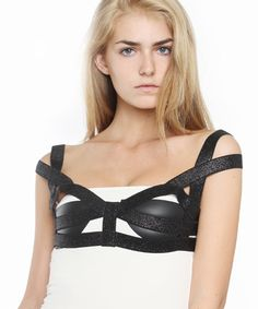 Lurex Elastic Cage Bralette by Savant at I Don't Like Mondays -- FREE SHIPPING: I DONT LIKE MONDAYS - an online fashion boutique ($100-200) - Svpply