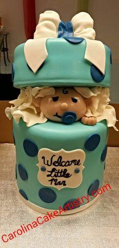 Adorable baby shower cake,  all edible!