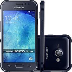 "Sou Barato Samsung Galaxy J1 Ace Duos Dual Chip Desbloqueado Android 4.4 Tela 4.3"" 4GB 3G R$ 431,00"