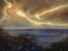 Title  Lightning Storm  Artist  Affordable Art Halsey  Medium  Photograph - Oil On Canvas