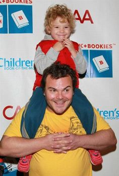 Jack Black with son Samuel- he is so funny! I liked him in the school of rock and the holiday