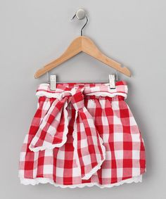 Take a look at this Red Gingham Skirt - Toddler & Girls by Trish Scully Child on #zulily today!
