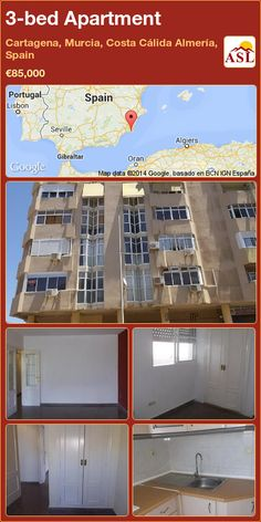 3-bed Apartment in Cartagena, Murcia, Costa Cálida Almería, Spain ►€85,000 #PropertyForSaleInSpain