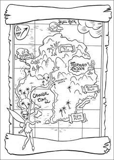 Dibujos para Colorear. Dibujos para Pintar. Dibujos para imprimir y colorear online. Peter Pan 28