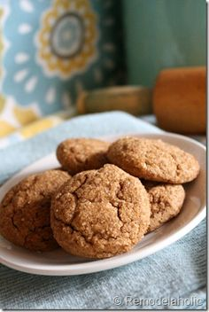 Remodelaholic | Chewy Gingerbread Cookies Recipe Pinner says:  These are really great!  One thing to note, the recipe says to mix ALL dry ingredients together.  The sugar is supposed to be creamed with the butter!