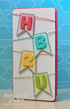 "Avery Elle- I dont know about ""hb2u"", but I think this would be cute spelling someones name out or even ""hello"""