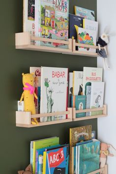 use Ikea spice racks in extra bookcase for the cha . - Ikea DIY - The best IKEA hacks all in one place Girl Bedroom Designs, Kids Bedroom, Ikea Spice Rack, Spice Racks, Fantasy Bedroom, Deco Originale, Parisian Apartment, Kids Corner, Creative Kids
