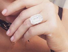 Breathtaking Celebrity Engagement Rings Radiant Engagement Rings, Best Engagement Rings, Rose Gold Engagement, Vintage Engagement Rings, Solitaire Engagement, Celebrity Wedding Rings, Gold Diamond Wedding Band, Wedding Bands, Engagement Celebration