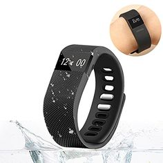 Smart Watch Bluetooth Watch Fitness Tracker Bracelet Smart band Calorie Counter Wireless Pedometer Sport Activity Tracker For iPhone Samsung Android IOS Phone (Black)   Strap material: TPU environmental protection material / silicone size 210mm-250mmCPU chip: ST17H25Bluetooth version: 4.0BLE (lo