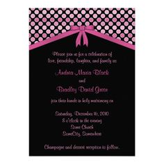 This DealsPink and Black Polka Dots Wedding InvitationWe have the best promotion for you and if you are interested in the related item or need more information reviews from the x customer who are own of them before please follow the link to see fully reviews