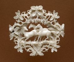 aleyma: Workshop of Count von Erbach-Erbach, Brooch with horses and oak twigs, c.1830-60 (source).