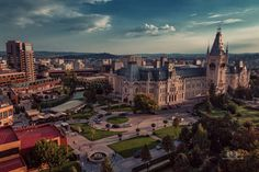 Iasi by carasionut City Architecture, Romania, Paris Skyline, Mansions, House Styles, Travel, Viajes, Manor Houses, Villas