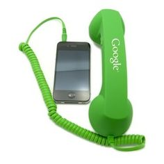 Retro phone handset for your mobile phone with a one-color custom imprint as low as $7.40 each