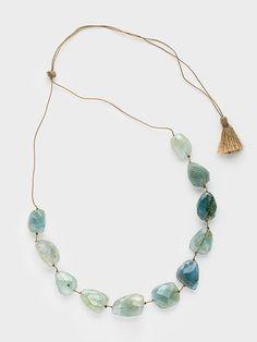 Aquamarine Caillou Necklace