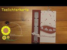 Teelichterkarte - YouTube Stampinup, Petra, Diy And Crafts, Calendar, Holiday Decor, Boxes, Winter, Youtube, Home Decor