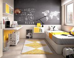 Youth Bedroom - Bedrooms For Girls Childrens Bedroom Furniture, Boys Bedroom Decor, Teen Room Decor, Small Room Bedroom, Kids Room Design, Interior Design Living Room, Apartment Interior, Boy Room, Room Inspiration