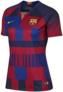 "FC Barcelona Jersey is deep royal blue and university gold. The chest features Rakuten as a sponsor with embroidered Nike logo on the right side. Made By Nike. Replica design with team details. ""YOUR TEAM. Barcelona Jerseys, Black Girl Braids, Yellow Fashion, Shirts For Girls, Royal Blue, Sportswear, Nike Women, 20th Anniversary, Mens Tops"