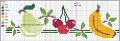 ponto cruz cozinha frutas ile ilgili görsel sonucu Cross Stitch Fruit, Cross Stitch Boards, Cross Stitch Kitchen, Cross Stitch Flowers, Cross Stitch Embroidery, Cross Stitch Patterns, Sewing Stitches, Crochet Flower Patterns, Bargello