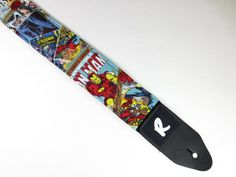 Hey, I found this really awesome Etsy listing at https://www.etsy.com/listing/194456033/superhero-comic-strip-guitar-strap