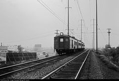 RailPictures.Net Photo: PRR Pennsylvania Railroad Electric MP54 multiple unit at North Bergen, New Jersey by George W. Hamlin