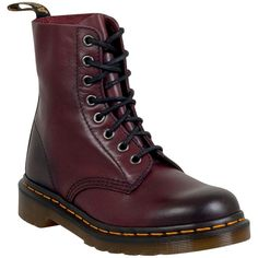 Dr. Martens Unisex Pascal Antiqued Temperley Boot (2,395 MXN) ❤ liked on Polyvore featuring shoes, boots, burgundy, combat boots, army boots, burgundy boots, laced boots and burgundy lace up boots