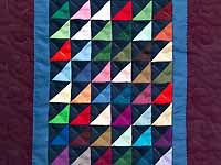 Mini Almost Amish Shadows Quilt;Amish Country Quilts