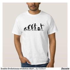 Zombie Evolutionary evolution chart funny science