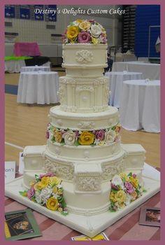secret garden wedding cakes - Google Search