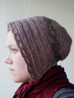 """Winter bonnet by Sarah from the blog """"A Most Peculiar Mademoiselle"""""""