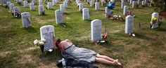 This very famous photo of a women grieving at the headstone of her loved one at Arlington Cemetery is incredibly popular, especially on holidays honoring the military like Memorial Day.The story b…