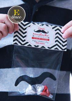 Printable Valentine  Mustache Valentine's  by EThreeDesignStudio