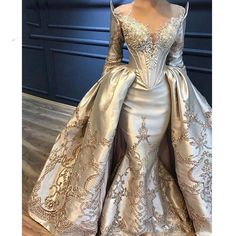 Gold Glam Wedding Dresses Inspiration 14 Visit the post for more. Prom Dresses Long With Sleeves, Cheap Prom Dresses, Ball Dresses, Quinceanera Dresses, Ball Gowns Evening, Evening Dresses, Elegant Dresses, Beautiful Dresses, Awesome Dresses