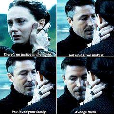 Petyr Baelish and Sansa Stark. I have every faith that Sansa WILL avenge them.