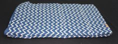 5 yard Pure Cotton Hand Block Printed Fabric Bohemian Fabric Indigo Blue and White Color Indian Fabric Handmade Fabric Zig-Zag Design Print by BLOCKPRINTFABRIC on Etsy