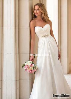 I like this - Elegant Sweetheart Neckline Chiffon Raised Waistline Sheath Beach Wedding Dress. Do you think I should buy it?
