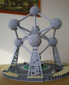 Guys. It's a LEGO ATOMIUM. Like, the big molecular structure in Belgium. This is great.