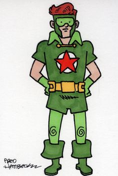 Fred Hembeck Color Sketch Card: Red Star (Teen Titans/DC) 1/1