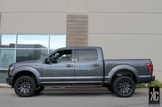 XD Heist black/milled wheels mounted with Toyo Open  Country AT2 tires and a RC level kit on a 2015 F-150.