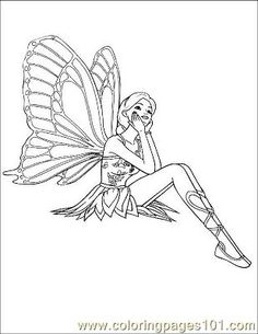 free printable coloring image Fairy 1 (38)