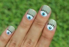#nailart #eye #nails