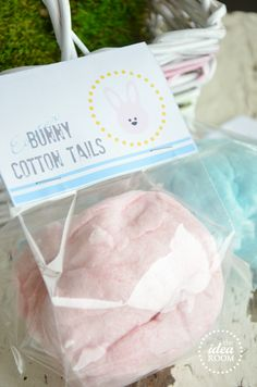 Easter Bunny Tails w/ Cotton Candy