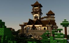 Japanese Minecraft Temple