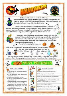 Halloween - reading