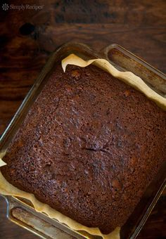 Triple Ginger Gingerbread Cake ~ Old-fashioned gingerbread cake loaded with three kinds of ginger, spices, honey and molasses.  ~ SimplyRecipes.com