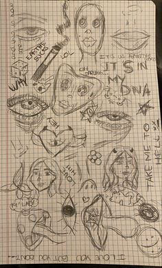 Indie Drawings, Psychedelic Drawings, Cool Art Drawings, Art Drawings Sketches, Arte Grunge, Grunge Art, Art Journal Inspiration, Art Inspo, Arte Punk