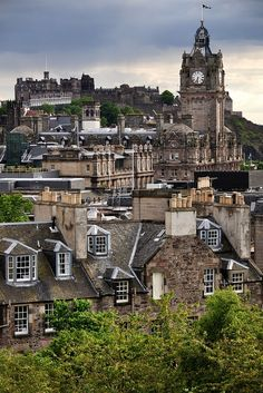 Calton Hill, View of Edinburgh,Scotland