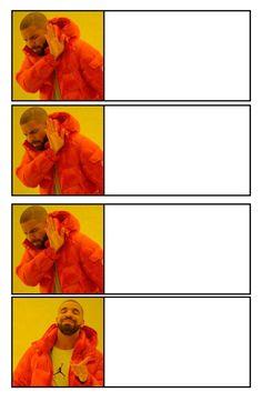 Drake Meme, Top Memes, Best Memes, Funny Images, Funny Photos, Angel Meme, Flipagram Instagram, Blank Memes, Boyfriend Memes